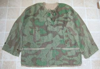 German Army Ww2 Camo Camouflage Hbt Smock Not Waffen,  Rare And