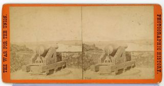 Stereoview Photograph E.  T.  Anthony Civil War Views Interior Fort Darling Va 8