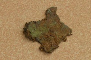 Mineral Specimen Of Nativ Copper Ore,  From Ajo,  Arizona