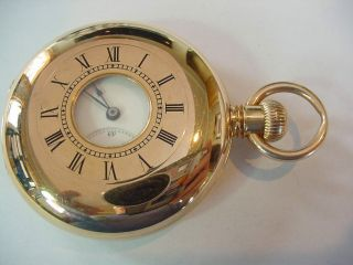 Rare & Important 1874 Oversized 18k Gold Tiffany & Co Demi Hunter Pocket Watch