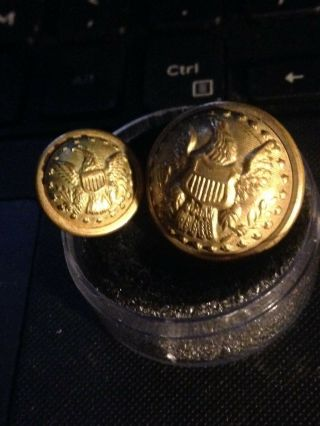 Two Early Civil War General Staff Coat & Cuff Buttons
