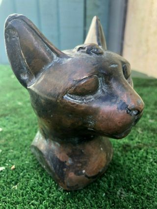 19thc Bronze Decorative Cat