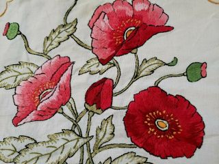 Antique Arts And Crafts Embroidered Pillow Cover