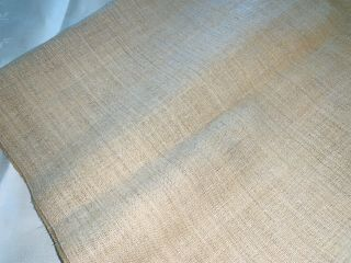 """2 Yards Antique Homespun Linen Oatmeal Color 33 """" Wide.  Heavy"""
