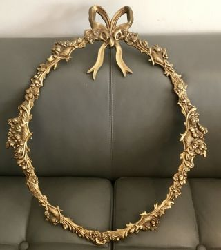 Vintage 1950's Metal Cast Gilded Picture/mirror Frame