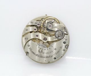 39mm Antique Patek Philippe Pocket Watch Movement W/ Dial And Hands