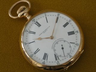 1905 Patek Philippe Gondolo Pocket Watch 18yg Of 56mm Triple Signed Serviced Tim
