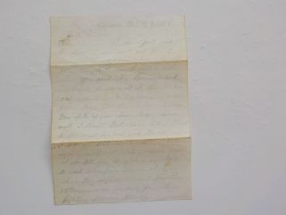 Civil War Letter 1863 Till Death Heavy Firing Expect To Fall In 121st York