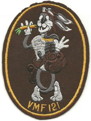 Famous Usmc Vmf - 121 Bugs Bunny Six Inch By Five Inch G - 1 Flight Jacket Patch
