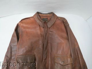 Wwii Us Army Air Force Type A - 2 Leather Flight Jacket Size 42