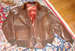M - 422a G - 1 Ww2 Usn Leather Flight Jacket Gordon & Ferguson Ultra Rare Size 46