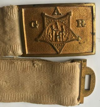 Grand Army Of The Republic Belt Buckle W/ Belt