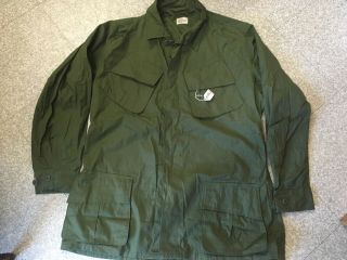 L - L Nos Vietnam 1969 Og107 Rip Stop Jungle Fatigue Jacket Large Long