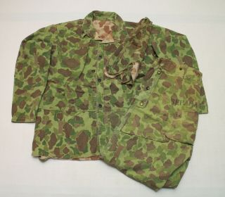 Us Ww2 Field Camo Jacket With Trousers Pants And Cap 007 - 3280