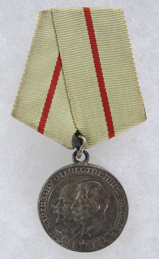 "Wwii 1943 Russian Ussr Cccp Medal "" Partisan Of The Patriotic War "" 1st Class Yqz"