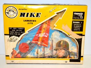 Rare 1950s 1960s Tn Japan Nike Launching Site Rocket Target Game
