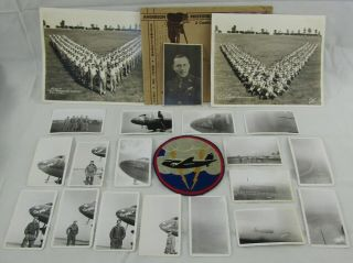 Named Ww2 77th Troop Transport Squadron Patch/photographs Grouping - D - Day