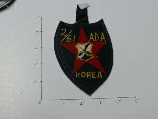 61 Air Defense Artillery 2 Bn Di Style On 2 Id Shield Made In Korea Color Patch