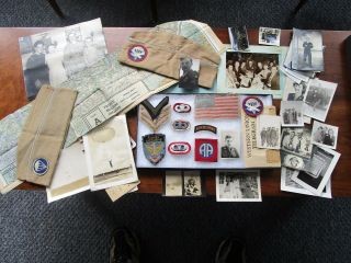 Wwii 82nd Airborne Group D - Day And Market Garden Named Patches Jump Wings Photos