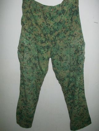 Singapore Army Special Forces Digital Pixelated Pants Size 37 - Rare