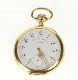 Bailey Banks & Biddle Patek Philippe 14s 18k Pocket Watch 19