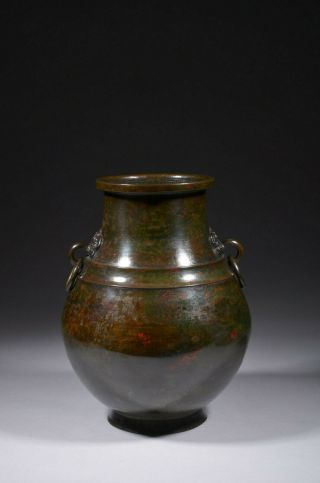 Large Antique Chinese Bronze Vase,  Ming Or Qing Dynasty.