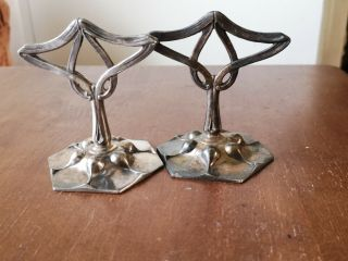 A Unusual Art Nouveau Or Arts And Crafts Metal Table Decorations/setting