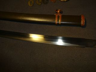 Japanese WWll Army officer ' s sword in mountings,  Gendaito