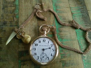 Hamilton 18s Pocket Watch /946 23 Jewels Adjusted,  14k Solid Gold Case,  Serviced