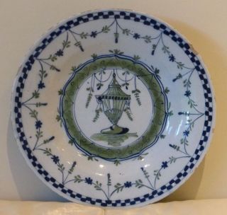 Antique English Delft Plate Circa 1750 - Extremely Rare And Hard To Find
