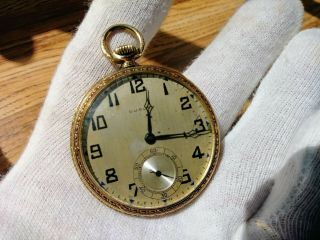 Rare 14k Gold Dudley Masonic Pocket Watch 2227