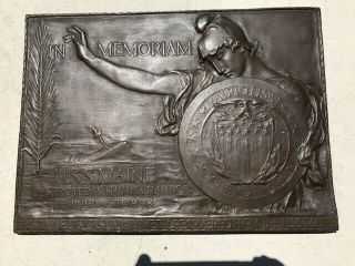 Remember The Maine 1913 Bronze Memorial Sculpture By Ny Sculptor Chas Keck
