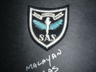 British Sas The Malayan Scouts Shoulder Patch