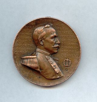 In Memory Of The Victory Of Manila Bay 1898 U S S Baltimore - George Dewey Medal