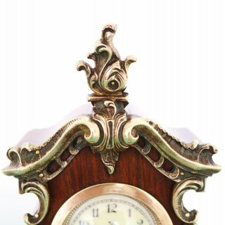 JUNGHANS PFEILKREUZ Mantel Clock Antique BABY MINI Grandfathers EXTREMELY RARE 3
