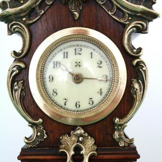 JUNGHANS PFEILKREUZ Mantel Clock Antique BABY MINI Grandfathers EXTREMELY RARE 5
