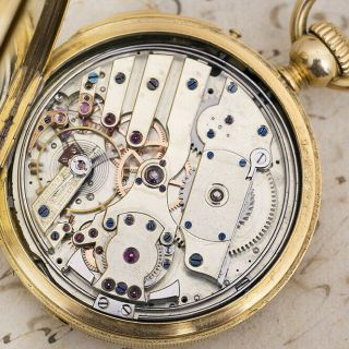 Repeater Solid Gold Antique Repeating Pocket Watch