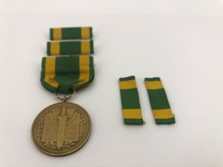 Spanish American War Service Medal/named - Serial 6507 Camp Meigs,  Dc