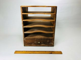 Vintage Kingsley Stamping Machine Co.  Wooden Box (container Only) With Ribbons