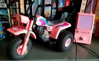 Vintage Wired Remote Control 3 Wheeler Atc 250 Cycle Trike Very Rare Pink