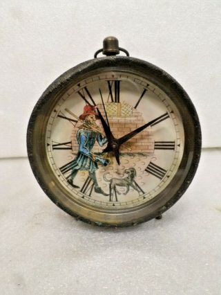 Interesting Round Timepiece Clock With Animation Of Man
