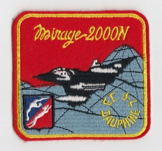 "French Air Force - Ec - 1 "" Dauphine "" Mirage 2000n Patch - Armee De L"