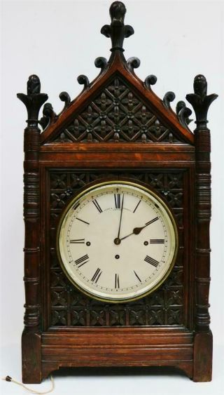 Antique English London Cathedral Triple Fusee Musical 8/4 Bell Bracket Clock