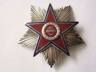 Romania Early Rare Rpr Order Of The Star 2nd Class,  70mm.