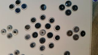 """42 Metal Antique Vintage Buttons 1/2 """" & 5/8 """" Stunning Designs Tinted More M31"""