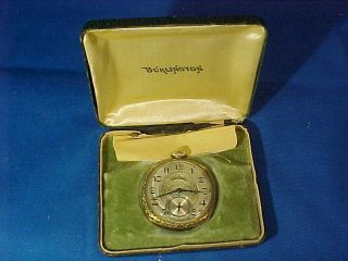 Early 20thc Burlington 21 Jewel Pocket Watch W Orig Box Not Running