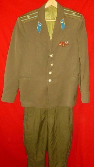 1987 Russian Soviet Air Force Major Service Jacket With Ribbons,  Breeches Ussr
