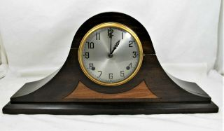 Antique Gilbert 1807 Mantel Clock Chimes On The Hour & Half Hour No Key