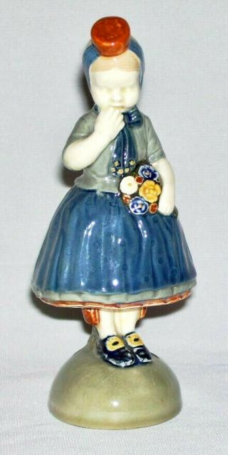 & Vintage Porcelain Young Girl Figurine (4916,  Marked) European