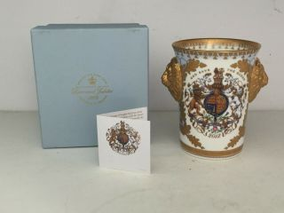 Queen Elizabeth Diamond Jubilee 2012 Buckingham Palace China Beaker Rams Head